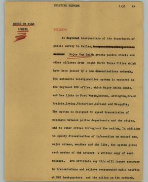 Primary view of object titled '[News Script: Teletype network]'.