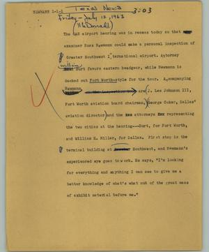 Primary view of object titled '[News Script: Newmann]'.