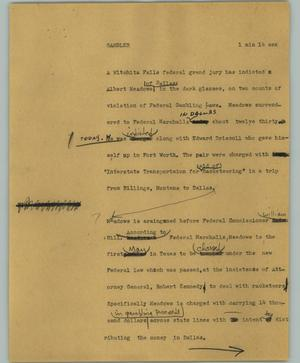 Primary view of object titled '[News Script: Gambler]'.