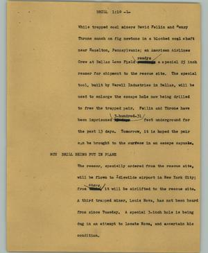 Primary view of object titled '[News Script: Drill]'.