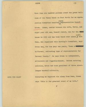 Primary view of object titled '[News Script: Green]'.