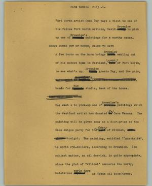 Primary view of object titled '[News Script: Casa Banana]'.