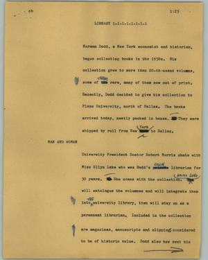 Primary view of [News Script: Library]