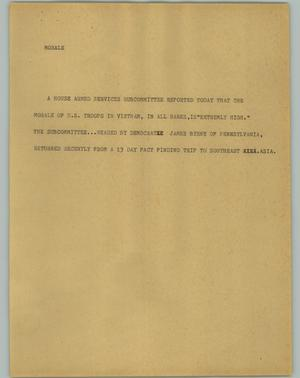 Primary view of object titled '[News Script: Morale]'.