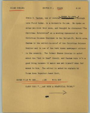 Primary view of object titled '[News Script: Editor]'.