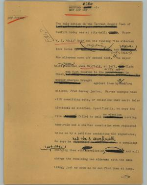 Primary view of object titled '[News Script: Bedford]'.