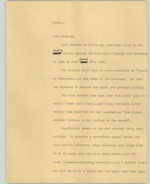 Primary view of object titled '[News Script: Open]'.