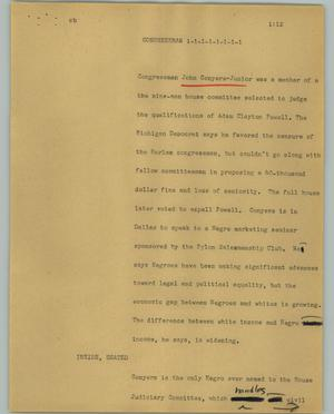 Primary view of object titled '[News Script: Congressman]'.