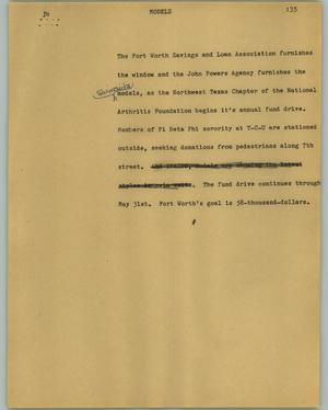 Primary view of object titled '[News Script: Models]'.