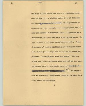 Primary view of object titled '[News Script: Jobs]'.