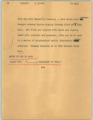 Primary view of object titled '[News Script: Manager]'.