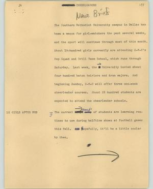 Primary view of object titled '[News Script: Cheerleaders]'.