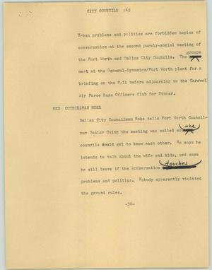 Primary view of object titled '[News Script: City councils]'.