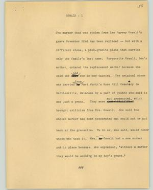 Primary view of object titled '[News Script: Oswald]'.