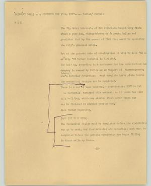 Primary view of object titled '[News Script: Fairmont Dallas]'.