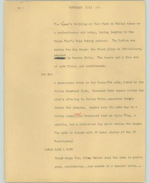Primary view of object titled '[News Script: Bonehead]'.