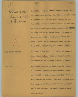Primary view of object titled '[News Script: Still]'.