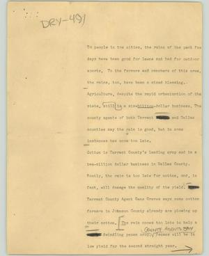 Primary view of object titled '[News Script: Dry]'.