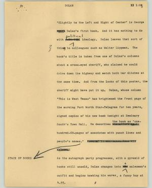 Primary view of object titled '[News Script: Dolan]'.
