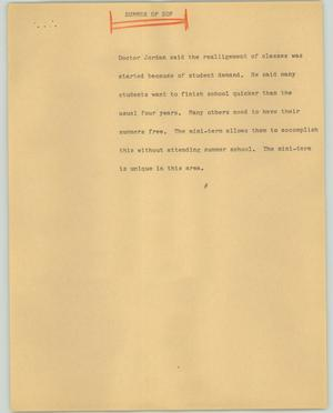 Primary view of object titled '[News Script: Summer of sof]'.