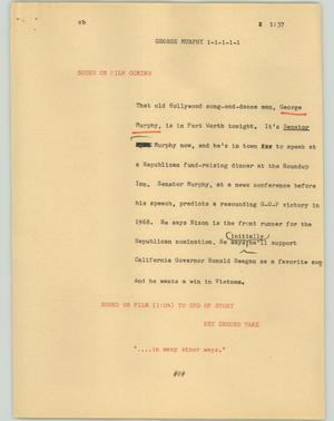 Primary view of object titled '[News Script: George Murphy]'.