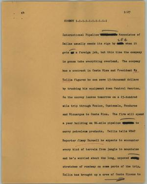 Primary view of object titled '[News Script: Convoy]'.
