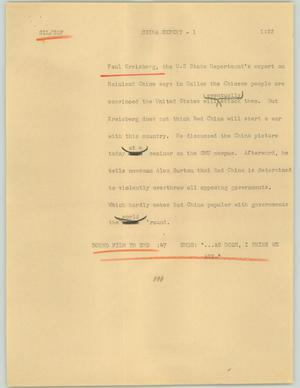 Primary view of object titled '[News Script: China expert]'.