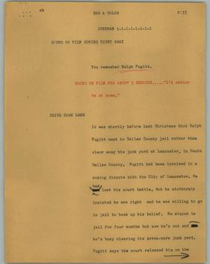 Primary view of object titled '[News Script: Junkman]'.
