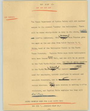 Primary view of object titled '[News Script: Cop]'.