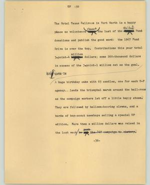 Primary view of object titled '[News Script: UF]'.