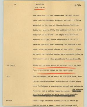Primary view of object titled '[News Script: American]'.