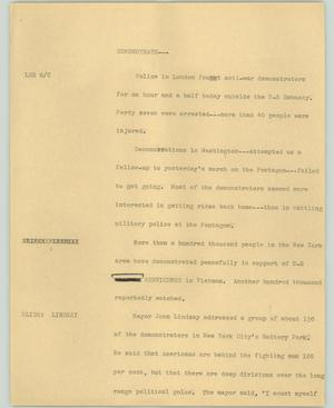 Primary view of object titled '[News Script: Demonstrate]'.