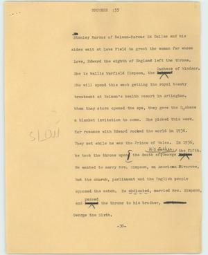 Primary view of object titled '[News Script: Duchess]'.