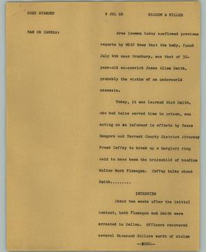 Primary view of object titled '[News Script: Body standup]'.