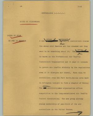 Primary view of object titled '[News Script: Controllers]'.