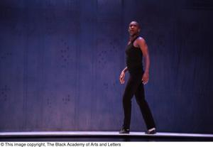 Primary view of object titled '[Man dancing on stage]'.