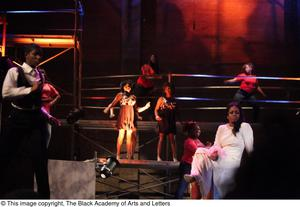 Primary view of object titled '[Actors perform a musical sequence from Aretha: The Musical]'.