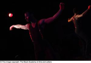 Primary view of object titled '[Dancers in black and red]'.