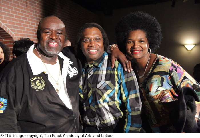 Curtis King Posing with Two Unidentified Persons] - The Portal to