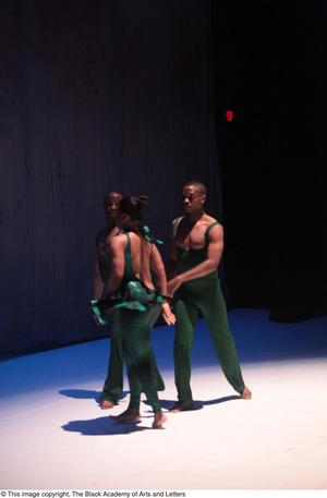Primary view of object titled '[Ensemble in green dancing]'.