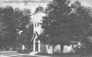 Primary view of object titled '[Calvary Episcopal Church in 1947]'.