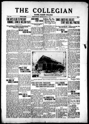 The Collegian (Brownwood, Tex.), Vol. 19, No. 9, Ed. 1, Thursday, March 13, 1924