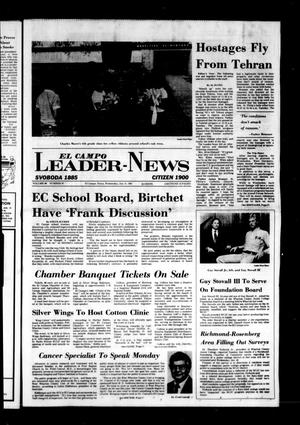 Primary view of object titled 'El Campo Leader-News (El Campo, Tex.), Vol. 96, No. 87, Ed. 1 Wednesday, January 21, 1981'.
