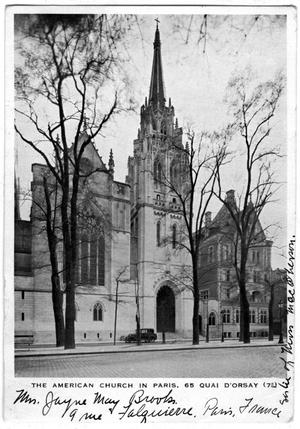Primary view of object titled '[The American Church in Paris]'.