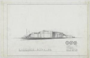 Primary view of object titled 'Binswanger Glass Company Business Building, Abilene, Texas: Outside Rendering'.