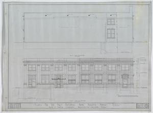 First National Bank, Munday, Texas: West & East Side Elevations, Plans For The First National Bank Building, Munday, Texas: Sheet 4, First National Bank, Munday, Texas, Commercial Buildings