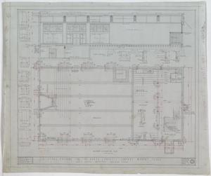 Baker-Campbell Company Store, Munday, Texas: Basement & Foundation Plan