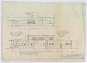 Midwest Electric Cooperative Office, Roby, Texas: West & South Elevations, An Office Building for Midwest Electric Cooperative, Inc., Roby, Texas: Sheet 5, Midwest Electric Cooperative Office, Roby, Texas, Office Buildings, Commercial Buildings