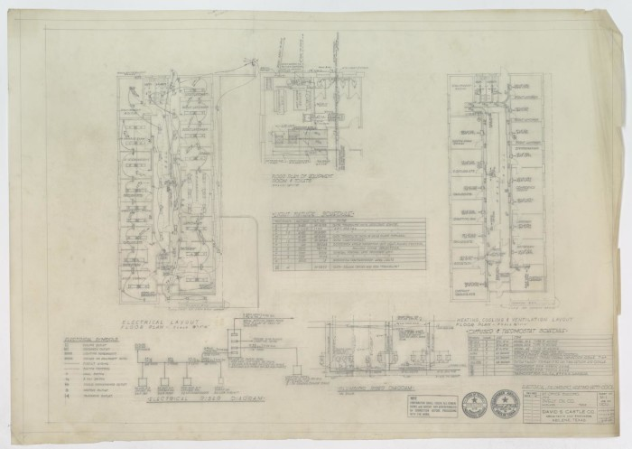 Skelly Oil Company Office, Midland, Texas: Electrical Layout ... on electrical locator, electrical drawing, electrical text, electrical architecture, electrical room size, electrical header, electrical specifications, electrical blueprint reading, electrical designing, electrical production, electrical prototype, electrical electronics t shirt designs, electrical cad building design, electrical floorplan, electrical input, electrical engineering, electrical safety, electrical area classification standards, electrical plans, electrical load schedule,