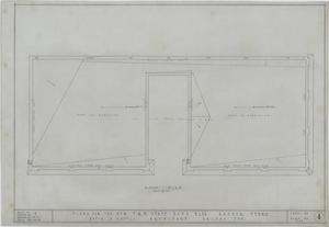 Primary view of object titled 'F & M State Bank, Ranger, Texas: Roof Plan'.